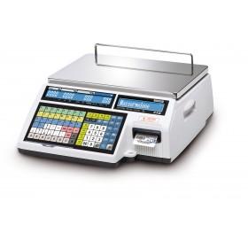 Geeichte Etikettendruckende Waage CAS CL5500-B Systemwaage
