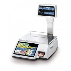 Geeichte Etikettendruckende Waage CAS CL5500-R Systemwaage