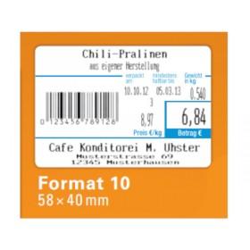 940 Thermoetiketten für CAS (10 Rollen) Format 10