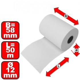 Thermorollen 58mm x 50m x 12 mm